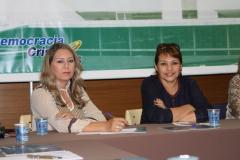 Maria Silvana Almeida Reis – Presidente Estadual DC Brasília / Vice Presidente Nacional DC da Região Centro –Oeste, Marlene Lopes Presidente Nacional Mulher DC.